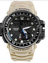 Hombre Niños Reloj Deportivo Reloj de Moda Reloj Casual Chino Cuarzo Calendario Cronógrafo Resistente al Agua Silicona Banda Casual Negro