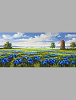 Hand-Painted Landscape Horizontal,Abstract One Panel Canvas Oil Painting For Home Decoration