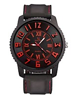 Men's Sport Watch Wrist watch Casual Watch Quartz / Silicone Rubber Band Vintage Casual Black