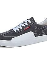 Homme Chaussures Polyuréthane Printemps Automne Semelles Légères Basket Lacet Pour Décontracté Noir Gris Rouge
