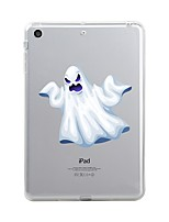 cheap -For iPad (2017) Case Cover Transparent Pattern Back Cover Case Transparent Halloween Skull Soft TPU for Apple iPad (2017) iPad Pro 12.9''