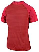 Damen Laufshirt Kurzarm Rasche Trocknung Schweißableitend Atmungsaktivität Leicht Dehnbar T-shirt für Rennen Leger Übung & Fitness Draußen