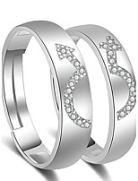Couple's Couple Rings Cuff Ring Cubic Zirconia Love Classic Alloy Jewelry Jewelry For Wedding Engagement