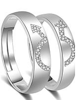 Da coppia Anelli per coppie Anello di polsino Zircone cubico Amore Classico Lega Gioielli Gioielli Per Matrimonio Fidanzamento
