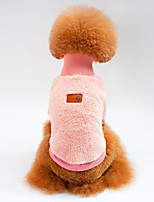 Dog Sweatshirt Dog Clothes Casual/Daily Solid Khaki Blushing Pink Green Dark Blue