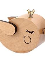 Music Box Wind-up Toy Toys Bird Animals Crystal Wood Pieces Unisex Birthday Valentine's Day Gift