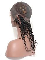 capelli umani indiani verdi dell'onda profonda 360 chiusura frontale del merletto con la chiusura della fascia del merletto della testa