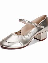 Women's Modern Leatherette Heel Outdoor Low Heel Silver Gold 1