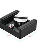 Support de base de l'adaptateur de montage pour chaussure à froid avec 1/4 vis de fixation pour cage de caméra dslr Microphone à lumière