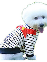 Dog Sweatshirt Dog Clothes Casual/Daily Cartoon White/Black