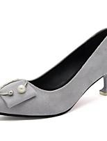 Для женщин Обувь Полиуретан Осень Удобная обувь Туфли лодочки Обувь на каблуках На шпильке Заостренный носок Назначение Повседневные Для
