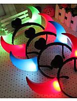 LED Ox Horns Luminous Headband Toys Headwear for Halloween Party Ramdon Color