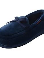Men's Shoes Velvet Winter Fur Lining Fluff Lining Moccasin Slippers & Flip-Flops Pom-pom For Casual Blue Gray