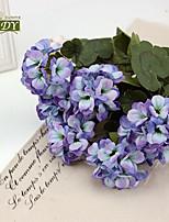 1 Peça 1 Ramo Poliéster Plantas Flor de Mesa Flores artificiais