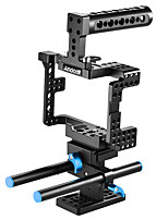 Andoer Protective Video Camera Cage Stabilizer Protector w/ Top Handle/ 15mm Rod Rail/ Baseplate for Sony A7II   A7RII A7SII  ILDC Mirrorless Camcorde