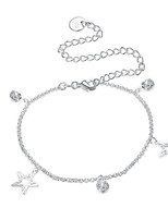 Women's Anklet/Bracelet Silver Plated Basic Star Jewelry For Party Casual