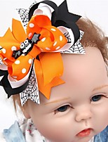 PANSY 2pcs/lot Halloween Pumpkin Hair Bows With Clip For Baby Girls Toddlers