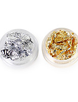 2 Nail Trim Gold Foil Silver Foil 2 Color Group 5g