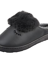 Men's Shoes Velvet Winter Fur Lining Fluff Lining Comfort Slippers & Flip-Flops For Casual Dark Purple Dark Grey Brown