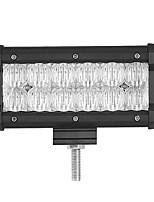 1pcs 7 pollici 5d 60w 6000lm 6500k ha condotto il fascio di luce del fascio di luce della barra chiara facoltativa con il modello di
