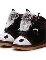 Fille Chaussures Cuir Hiver Confort Bottes de neige Chaussures de Demoiselle d'Honneur Fille Bottes Bottine/Demi Botte Combinaison Scotch