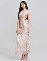 Sheath / Column Strapless Floor Length Polyester Prom Formal Evening Dress with Sequins by Z&X