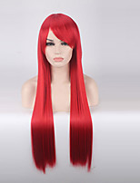 Women Synthetic Wig Capless Long Straight Red Cosplay Wigs Costume Wig