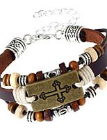Муж. Жен. Кожаные браслеты Мода Кожа Геометрической формы Бижутерия Назначение Для вечеринок Повседневные