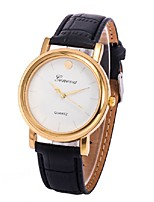 Men's Women's Dress Watch Fashion Watch Wrist watch Chinese Quartz PU Band Charm Elegant Casual Black Brown