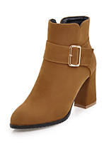 Women's Shoes Nubuck leather Leatherette Fall Winter Fashion Boots Bootie Boots Chunky Heel Pointed Toe Closed Toe Booties/Ankle Boots