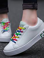 Для мужчин обувь Полиуретан Весна Осень Удобная обувь Кеды Шнуровка Назначение Повседневные Черно-белый Wit En Groen