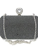 Women Bags All Seasons Special Material Evening Bag Crystal Detailing for Wedding Event/Party Gold Black Silver