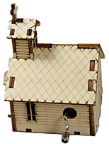 DIY KIT Music Box Toys House Wooden 1 Pieces Not Specified Gift