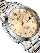 Men's Mechanical Watch Automatic self-winding Calendar Water Resistant / Water Proof Noctilucent Alloy Band Silver Gold