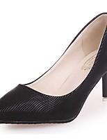 Femme Chaussures Polyuréthane Printemps Automne Confort Escarpin Basique Chaussures à Talons Talon Bas Bout pointu Pour Habillé Soirée &