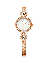 Women's Fashion Watch Quartz Water Resistant / Water Proof Alloy Band Sparkle Elegant Silver Rose Gold