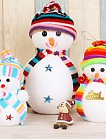 3pc ornamento de natal artigos do festival natal boneca pequena boneco de neve um pingente de pêndulo pingente presente de presente