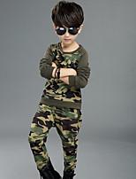 Boys' Camouflage Sets,Cotton Fall Clothing Set