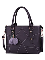 Women Bags All Seasons PU Tote Rivet for Formal Office & Career Blue Black Red Blushing Pink Gray