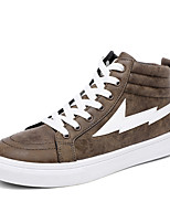 Men's Shoes Fabric Summer Fall Comfort Light Soles Sneakers Lace-up For Casual Outdoor Brown Gray Black