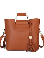 Women Bags All Seasons PU Shoulder Bag for Event/Party Casual Formal Outdoor Office & Career Black Red Gray Brown