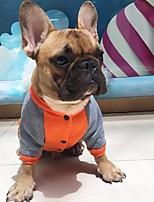 Cane Felpa Abbigliamento per cani Casual Animali Arancione Grigio