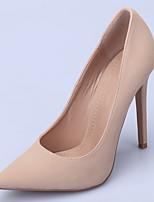 Feminino Sapatos Tecido Primavera Outono Plataforma Básica Saltos Salto Agulha Dedo Apontado Para Social Festas & Noite Verde Azul Rosa