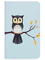 Owl Pattern Card Holder Wallet with Stand Flip Magnetic PU Leather Case for Samsung Galaxy TAB A 10.1 T580N T585N 10.1 inch Tablet PC