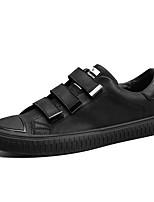 Da uomo Scarpe PU (Poliuretano) Primavera Autunno Comoda Sneakers Nastro a strappo Per Casual Nero Marrone