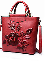 Women Bags All Seasons Other Leather Type Shoulder Bag with Zipper for Casual Red Dark Green Brown