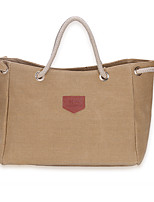 Women Bags All Seasons Canvas Tote for Shopping Casual Blue Black Gray Khaki