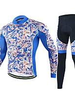 cheji® Cycling Jersey with Tights Men's Long Sleeves Bike Clothing Suits Quick Dry Breathability Stretchy Fashion Autumn/Fall Cycling/Bike