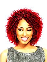 Afro crespo Trecce Trecce di capelli Ricci Jheri Treccia colorata schiarita Capelli 100% Kanekalon Nero rosso 10