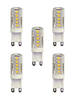 2.5W G9 LED Bi-pin Lights T 33 SMD 2835 210 lm Warm White White 3000-3500/6000-6500 K AC 220-240 V 5 pcs
